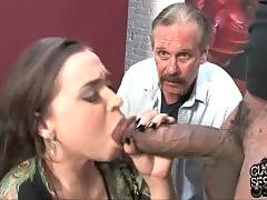 Slut with small mouth is sucking so good