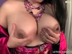 Busty baroness is showing her astonishing tits